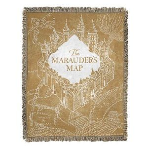 NWT⚡️Harry Potter Jac Throw Old Map Blanket 46x59